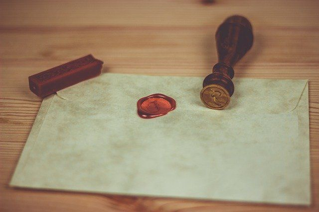 an old wax seal letter
